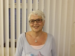 sue desmond, treasurer at the village club, spondon, derby